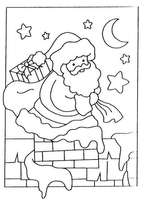coloriage 224 imprimer gratuit le pere noel descend la cheminee