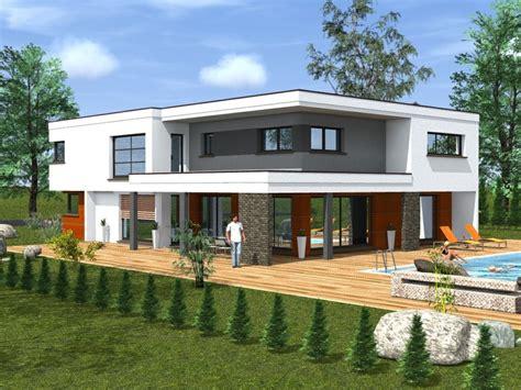 maison moderne sans toit plat images