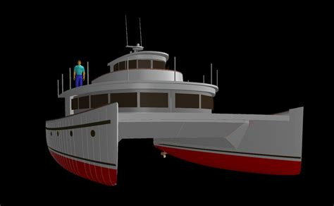 Catamaran Trawler Plans by Benadi Composite Catamaran Plans