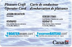 Boat License Quebec boating license required in canada get it online at