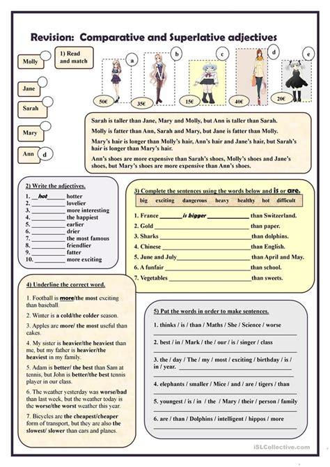 Revision Comparative And Superlative Adjectives Worksheet  Free Esl Printable Worksheets Made
