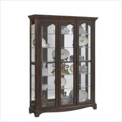 pulaski wood curio cabinet