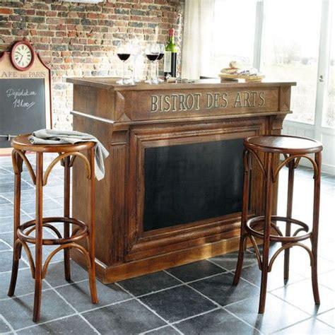 meuble de bar en manguier bistrot maisons du monde mdm tradition mobiles