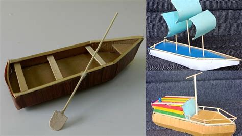 Easy Cardboard Boat Making by 3 Beautiful Diy Cardboard Boat Toys Crafts For Kids 7