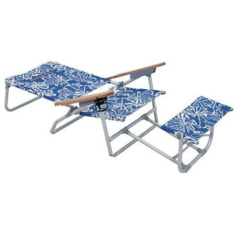 bahama oversized aluminum chair with footrest blue floral i want this