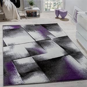 Teppich Wohnzimmer Grau : designer teppich wohnzimmer teppiche kurzflor meliert lila grau schwarz creme alle teppiche ~ Markanthonyermac.com Haus und Dekorationen