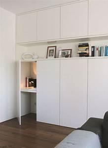 Schreibtisch Im Wohnzimmer : bildergebnis f r arbeitsplatz im wohnzimmer verstecken einrichten und wohnen pinterest ~ Markanthonyermac.com Haus und Dekorationen