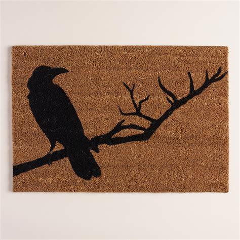Crow Halloween Doormat  World Market