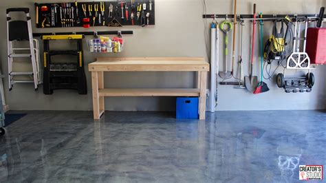 metallic garage floor makeover rust oleum creator s