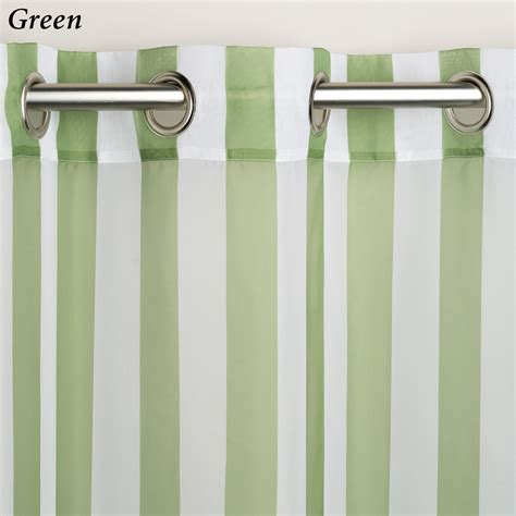 escape stripe outdoor grommet curtain panels