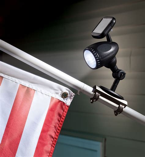 Solar Flag Pole Light 17874006304 Ebay