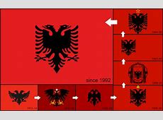 The History and evolution of Albanian flag by