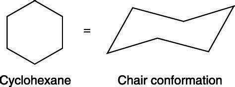 how to draw the chair conformation of cyclohexane dummies