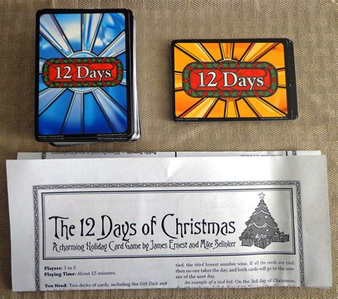 12 Days Of Christmas Card Game  Christmas Lights Card And Decore
