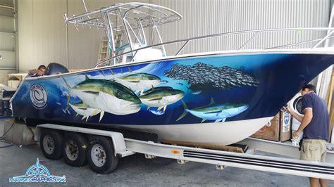 Custom Fishing Boat Graphics by Karmiz Topic Design Boat Stickers