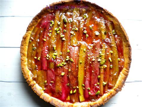 tarte sabl 233 e rhubarbe amandes et pistaches les d 233 lices de mimm
