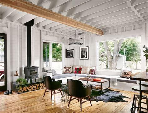 Minimalist Farmhouse Living Room Farmhouse With Wood Stove