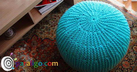 pouf ottoman knitting tutorial paraligo