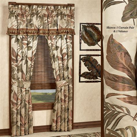 bali palm tropical window treatments by croscill