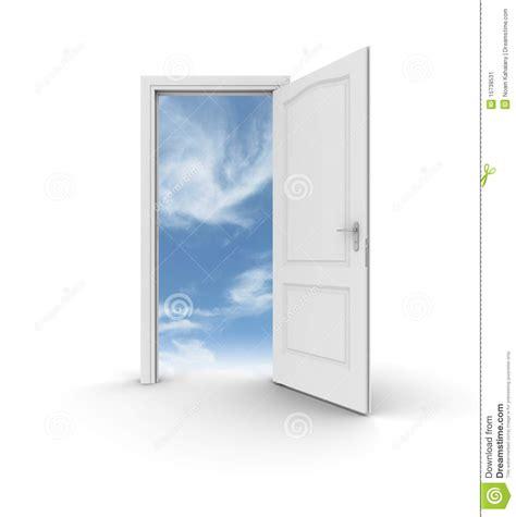 porte ouverte au ciel illustration stock image du possibilit 233 15738531