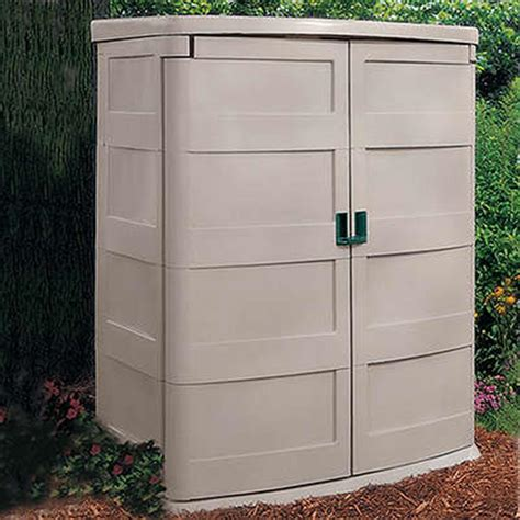 suncast 174 vertical garden shed 138476 patio storage at