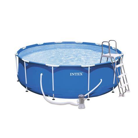 piscine hors sol autoportante tubulaire m 233 tal frame intex ronde diam 3 66 m leroy merlin