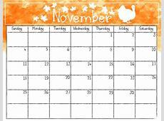 2018 November Editable Template Calendar {Download