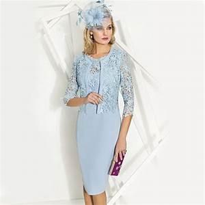 Cabotine Dress with Lace Jacket Powder Blue | Wedding ...