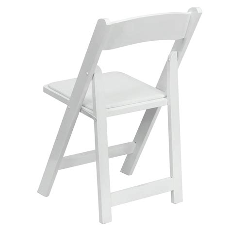hercules series white wood folding chair with vinyl padded seat foldingchairs4less