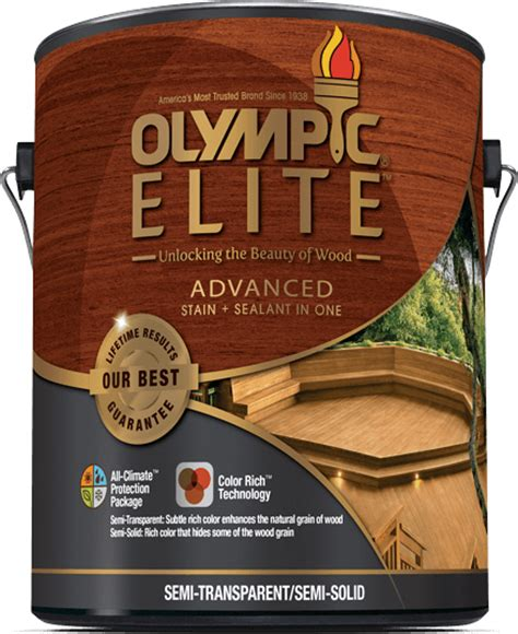 olympic 174 elite advanced stain sealant in one semi solid