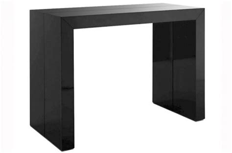 table console extensible noir laqu 233 pas ch 232 re declikdeco