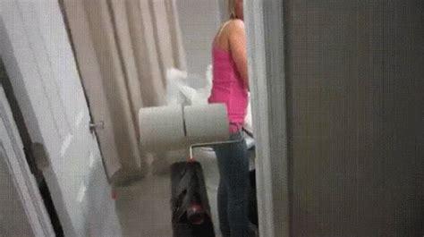 toilet paper prank gif april fools bathroom discover