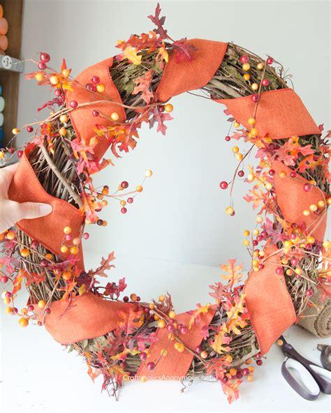 Craftaholics Anonymous®  Diy Fall Wreath With Monogram Pumpkin Tutorial