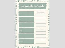 planner templates customize 21 weekly schedule planner