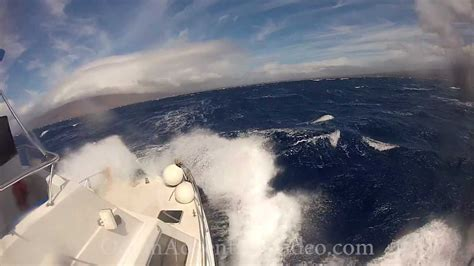 Sport Fishing Boats In Rough Seas by Boat In Rough Seas And Gale Force Winds Youtube