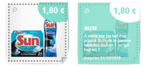 r 233 duction tablettes lave vaisselle sun presque gratuites