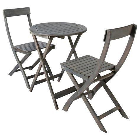 table 2 chaises de jardin en acacia grise d 39 cm malo maisons du monde