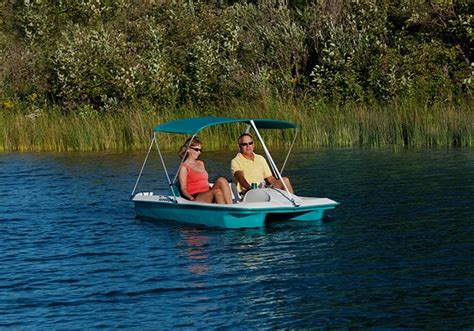 Pedal Boat Ocean by Sun Dolphin Sun Slider Pedal Boat With Canopy Ocean