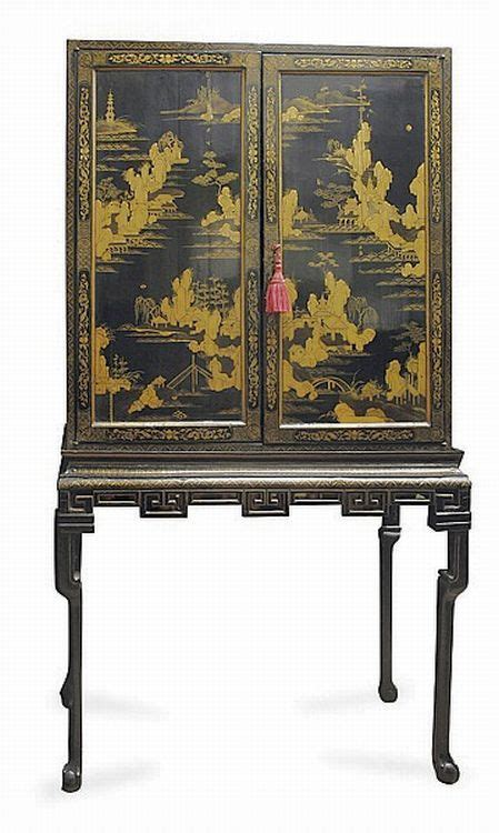 An Early 19th Century Chinese Lacquered Side Cabinet On