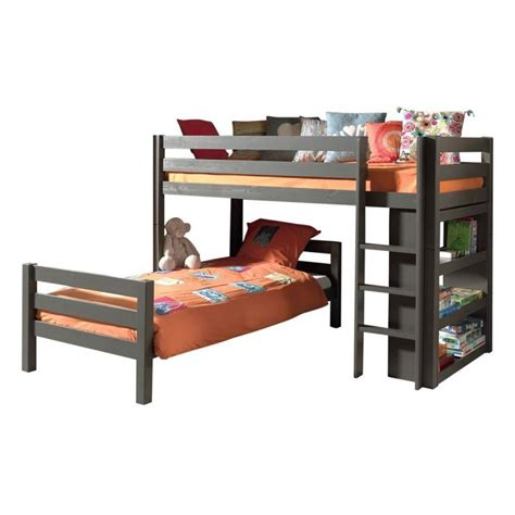 lit superpos 233 d angle tiroirs enfant quot pino quot taupe