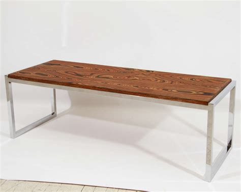 Chrome Exotic Wood Coffee Table Or Bench At 1stdibs. 3 Piece Dining Table Set. Wall Mounted Desk Organizer. Ergonomic Standing Desk. Ashley Furniture Table Lamps. Beach Themed Coffee Table. Commercial Reception Desk. Coffee Table Ottoman With Storage. Thomasville Coffee Table