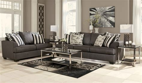 Levon Charcoal Living Room Set From Ashley (73403 Modern Living Room Interior Design Photos Country Livingrooms Small Designs Indian Style Nice Ideas Black Leather Suit Formal Into Home Office Decorating For Cozy