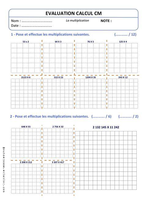 evaluations cm technique multiplication bout de gomme