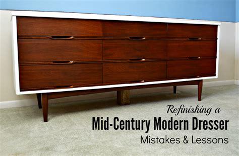 Refinishing A Mid-century Modern Dresser
