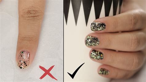 How To Apply Glitter Nail Polish