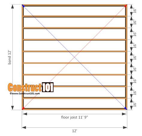 12x12 deck plans images
