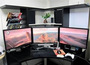Gaming Zimmer Deko : gaming paradies 17 ideen f r gaming schreibtisch innendesign m bel zenideen ~ Markanthonyermac.com Haus und Dekorationen