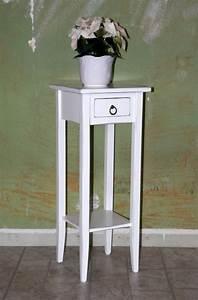 Beistelltisch Weiß Holz : beistelltisch wei antik blumentisch blumenhocker dekos ule 80 holz massiv ~ Markanthonyermac.com Haus und Dekorationen