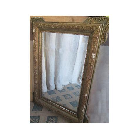 miroir ancien bois et platre dor 233 224 restaurer broc23