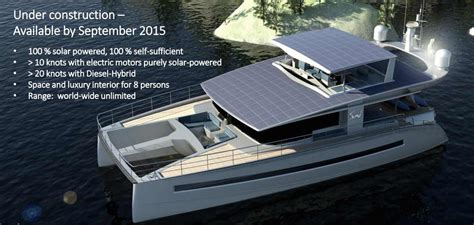 Catamaran Electric Engine by Power Catamaran Electric Diesel Hybrid From Solarwave